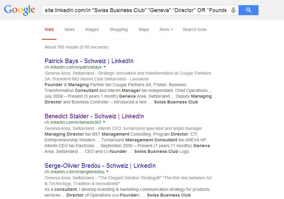 Boolean Search LinkedIn