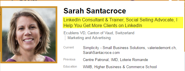 LinkedIn Profile Mistakes : Headline