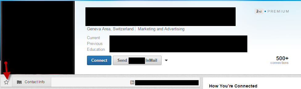 Save Contacts in LinkedIn