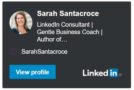 Sarah Santacroce on LinkedIn