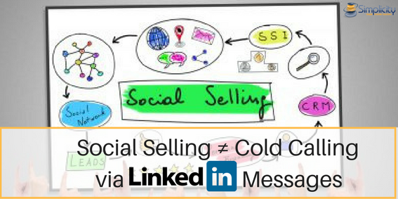 Social Selling ? Cold Calling via LinkedIn Messages Sarah