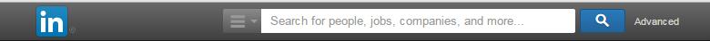Advanced Search Bar on LinkedIn