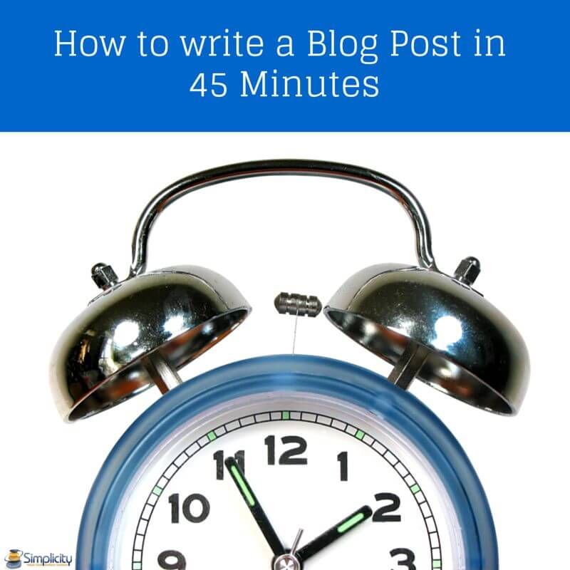 How to write a blog post in 45 minutes